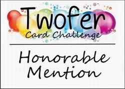 Twofer honorable mention badge